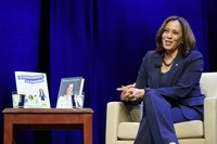In this Jan. 9, 2019 file photo, kicking off her book tour, Sen. Kamala Harris, D-Calif. speaks at George Washington University in Washington. (AP Photo/Sait Serkan Gurbuz)