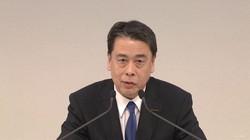 オンラインで会見する日産自動車の内田誠社長