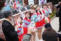 Volunteer cheerleaders belonging to