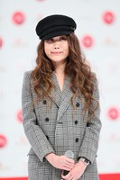 Singer JUJU, who will appear at the 71st Kohaku Uta Gassen singing contest in her debut at the event, is seen at a press event in Shibuya Ward, Tokyo, on Nov. 16, 2020. (Mainichi/Kota Yoshida)
