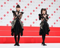 BABYMETAL pose at an event to announce that they will be among the acts to perform at NHK's 71st Kohaku Uta Gassen singing contest, their first appearance in the show, in Shibuya Ward, Tokyo, on Nov. 16, 2020. (Mainichi/Kota Yoshida)