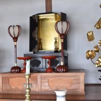 仏像が盗まれた仏壇=埼玉県戸田市美女木の寺院で2020年11月12日午前11時5分、中川友希撮影