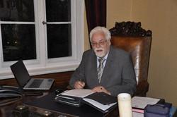 フリーメーソンのアヒム・シュトラスナー医師=2014年10月、篠田航一撮影