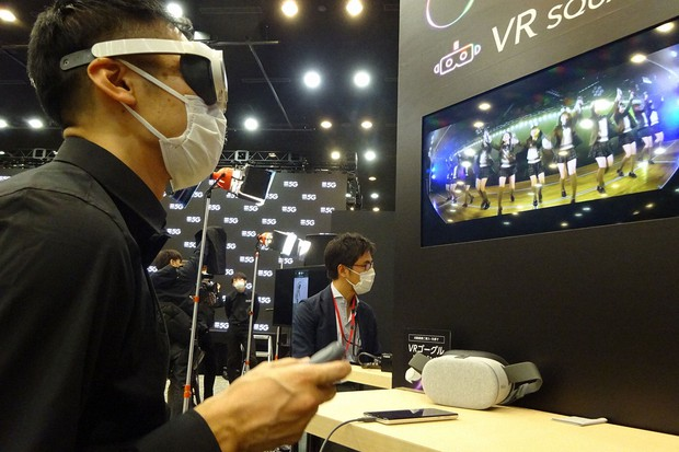高速通信を体感できるアプリとしてソフトバンクが提供するVR(仮想現実)システム