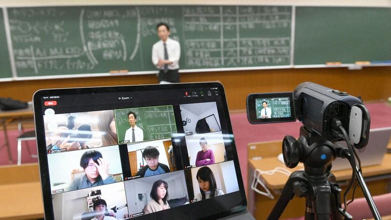 コロナ禍で全国の大学ではオンライン授業が増えた=2020年5月7日、矢頭智剛撮影