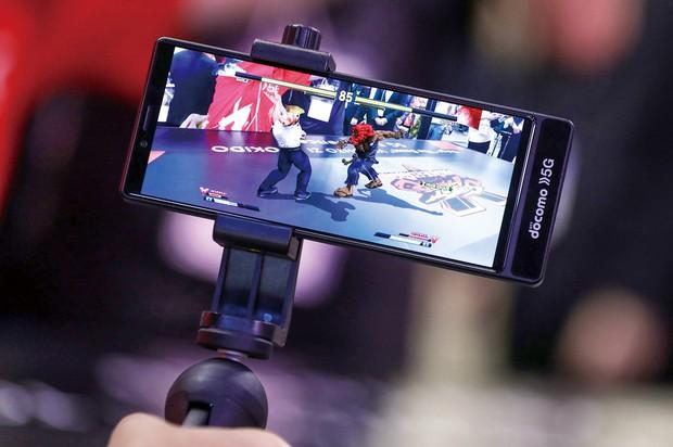 ゲームは5Gの普及を後押しすると期待されている(東京ゲームショウ、2019年) (Bloomberg)
