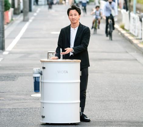 前田瑶介 WOTA代表 水道なしで500回使える手洗い機