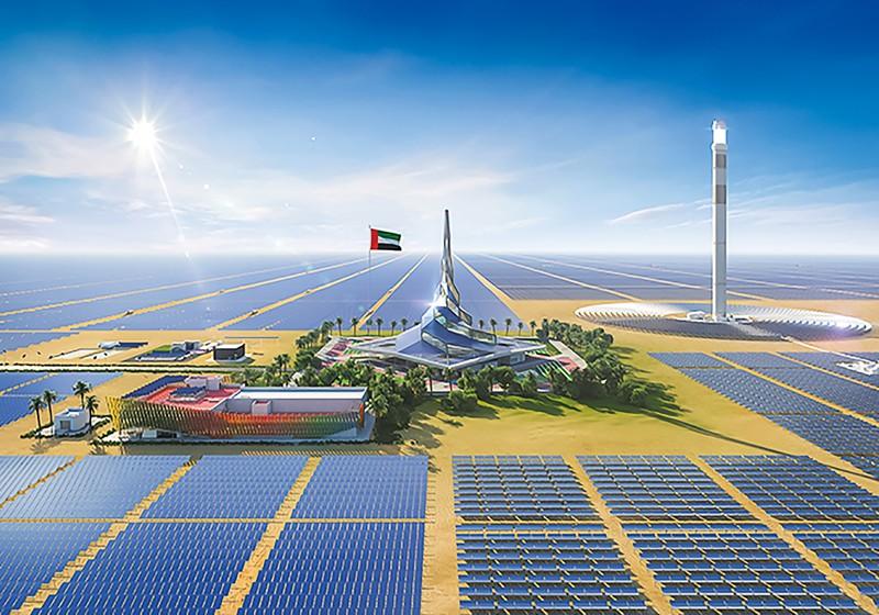 グリーン水素製造施設が建設されているドバイのソーラーパークのイメージ図 ドバイ電力・水庁より