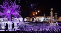 A display of lights is seen at the