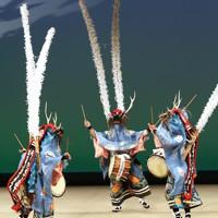 芸能祭で披露された陸前高田の郷土芸能「生出鹿踊」=岩手県陸前高田市で2012年11月23日、石井諭撮影
