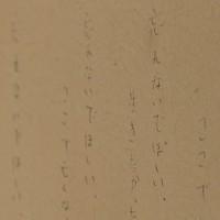 解体工事を前に鵜住居地区防災センターの壁に遺族が書いたと見られる「忘れないでほしい」というメッセージ=岩手県釜石市で2013年12月2日、小川昌宏撮影