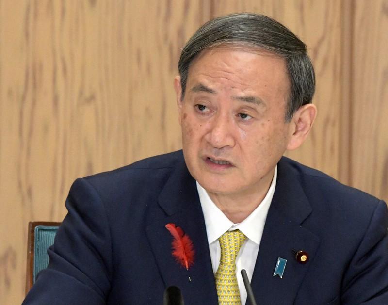 地銀再編の意向を示している菅義偉首相=首相官邸で2020年10月9日、竹内幹撮影
