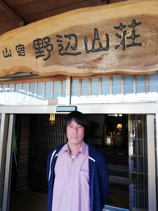 長野県南牧村の旅館を継いだ小原大暉さん(筆者撮影)