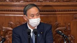 衆院本会議で所信表明演説をする菅義偉首相=国会内で2020年10月26日、竹内幹撮影