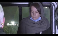 In this frame grab from Iranian state television video aired on Nov. 25, 2020, British-Australian academic Kylie Moore-Gilbert is seen in Tehran, Iran. (Iranian State Television via AP)