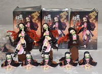 """Fake figures of Nezuko Kamado, a character in the smash-hit anime """"Demon Slayer,"""" which were confiscated by Yamaguchi Prefectural Police, are seen at Yamaguchi Minami Police Station in the city of Yamaguchi on Nov. 26, 2020. (Mainichi/Nanako Hori)"""
