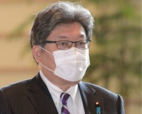 Education, Culture, Sports, Science and Technology Minister Koichi Hagiuda is seen at the prime minister's office in Tokyo on Nov. 27, 2020. (Mainichi/Kan Takeuchi)