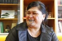 New Zealand's Foreign Minister Nanaia Mahuta speaks during an interview in her office on Nov. 25, 2020, in Wellington, New Zealand. (AP Photo/Nick Perry)