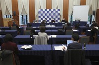 A research facility at Kwansei Gakuin University holds a press conference in Hyogo Prefecture on Nov. 27, 2020. (Kyodo)