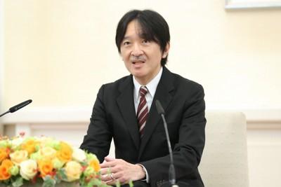 55歳の誕生日を前に記者会見される秋篠宮さま=東京・元赤坂の赤坂東邸で2020年11月20日(代表撮影)