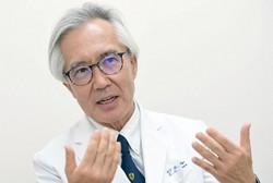がん検診などへのコロナ禍の影響について語る東大病院の中川恵一放射線治療部門長=藤井太郎撮影