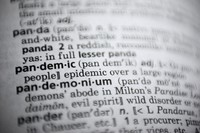 In this Nov. 21, 2020 photo, the word pandemic is displayed in a dictionary in Washington. (AP Photo/Jenny Kane)
