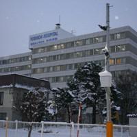道内最大規模のクラスターが発生した旭川市の吉田病院=2020年12月1日午後、渡部宏人撮影