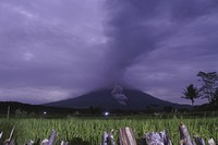 Volcanic materials spew from the crater of Mount Semeru in Lumajang, East Java, Indonesia, on Dec. 1, 2020. (AP Photo)