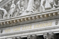 In this Nov. 23, 2020 file photo, stone sculptures adorn the New York Stock Exchange. (AP Photo/Seth Wenig)