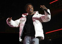 Roddy Ricch performs at the 7th annual BET Experience in Los Angeles on June 21, 2019. (Photo by Mark Von Holden/Invision/AP)