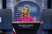 White House press secretary Kayleigh McEnany speaks during a briefing at the White House on Dec. 2, 2020, in Washington. (AP Photo/Evan Vucci)