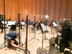 演奏は徹底した感染対策の下、行われている 筆者撮影