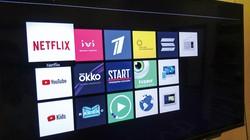 オンライン動画も見られるロシアのスマートテレビ画面。ネットフリックスも本腰 JETRO提供
