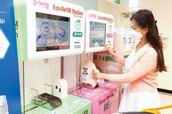 Eマートが始めた洗剤の量り売り 新世界グループ提供