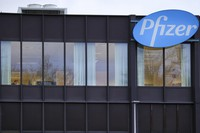 This Dec. 4, 2020 photo shows a general view of the Pfizer Manufacturing plant in Puurs, Belgium. (AP Photo/Olivier Matthys)