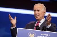 U.S. President-elect Joe Biden speaks about jobs at The Queen theater on Dec. 4, 2020, in Wilmington, Delaware. (AP Photo/Andrew Harnik)