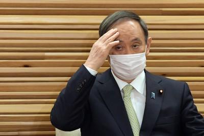 菅義偉首相=首相官邸で、竹内幹撮影