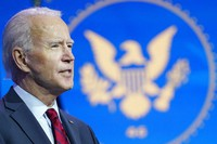 President-elect Joe Biden speaks during an event at The Queen theater in Wilmington, Del., Dec. 8, 2020, to announce his health care team. (AP Photo/Susan Walsh)