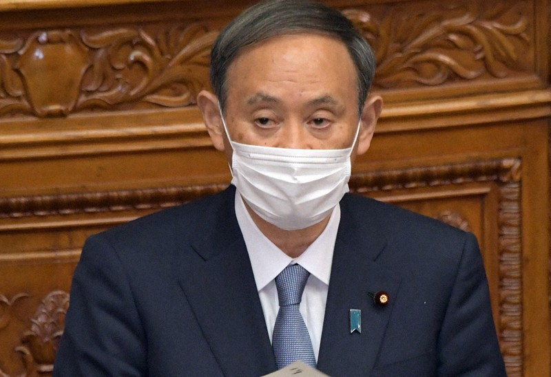 2050年までに温室効果ガス排出「実質ゼロ」を目指すと表明した菅義偉首相=2020年10月26日、竹内幹撮影