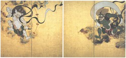 俵屋宗達≪風神雷神図屛風≫ 江戸時代 17世紀建仁寺蔵〈国宝〉