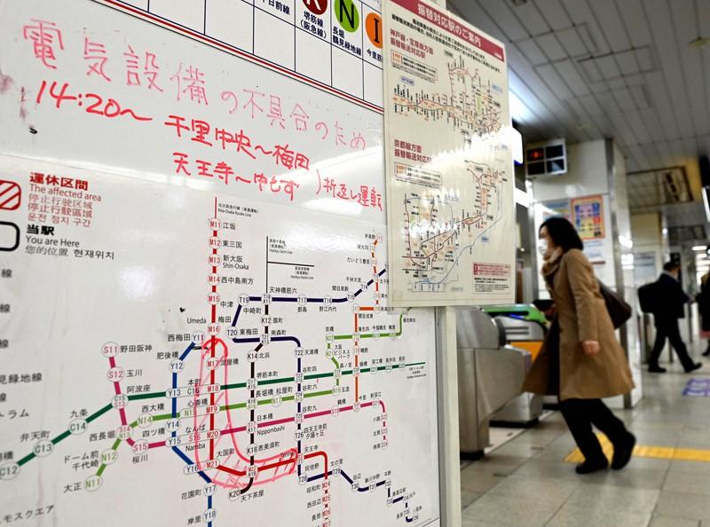 大阪メトロ御堂筋線で停電 全線で一時運転見合わせ | 毎日新聞