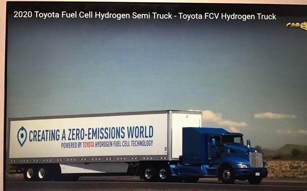 トヨタの水素トラックが全米で疾走する日は来るか(CarFeedの動画より)