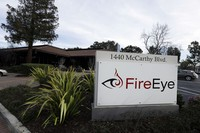 This Feb. 11, 2015 file photo shows FireEye offices in Milpitas, California. (AP Photo/Ben Margot)