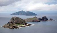 The Senkaku Islands off Okinawa Prefecture are seen in this file photo taken in October 2011. (Pool photo)