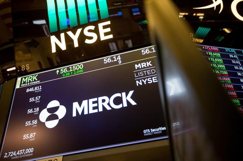 NYダウ工業株30種の構成銘柄のメルク (Bloomberg)