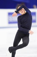 Figure skater Satoko Miyahara is seen at an official practice session for the national championships at the Big Hat arena in Nagano, central Japan, on Dec. 24, 2020. (Pool photo)