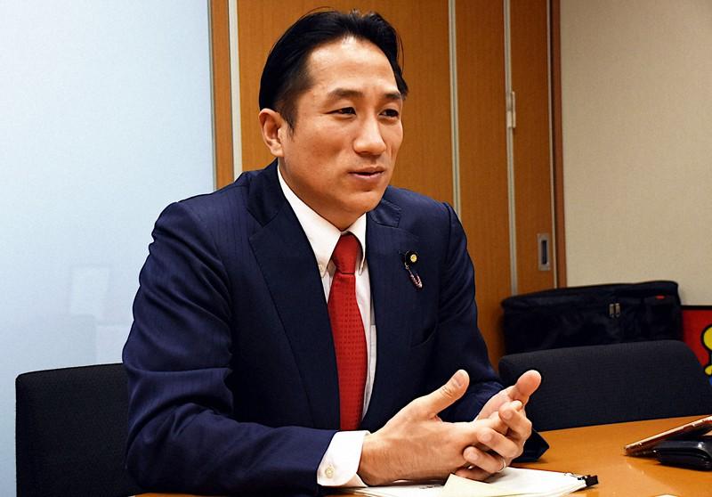 川田龍平氏=伊藤奈々恵撮影