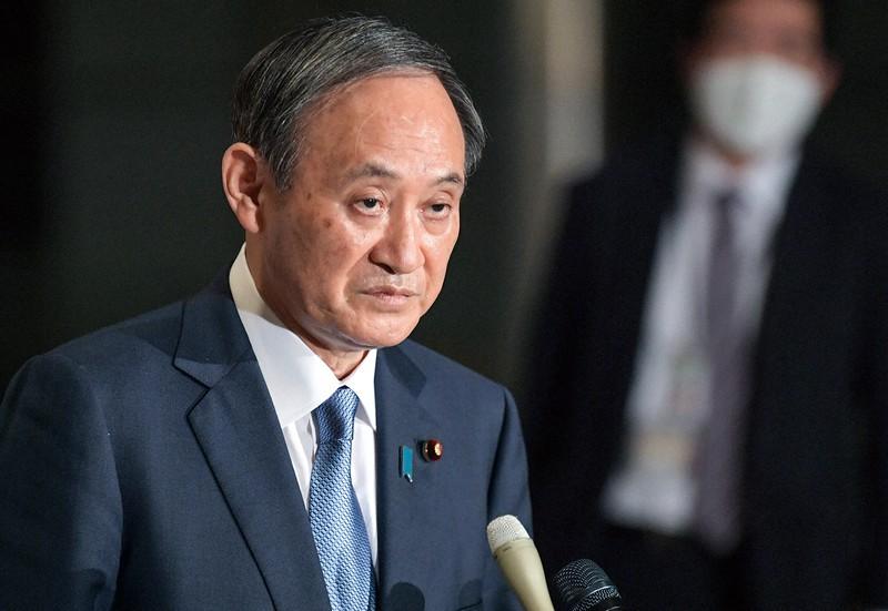 大人数で会食し陳謝した菅義偉首相。求心力を維持できるか(首相官邸で2020年12月16日)