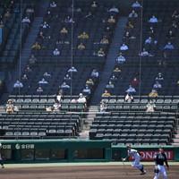 観客を入れて開催された阪神―オリックスの2軍戦=阪神甲子園球場で2020年6月23日午後2時23分、久保玲撮影