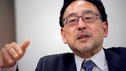 インタビューに答える藻谷浩介さん=藤井太郎撮影